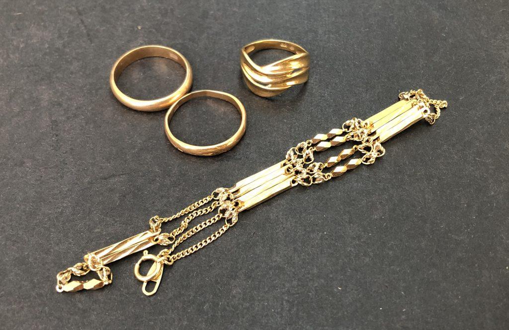 金の指輪・ネックレスを買取致しました