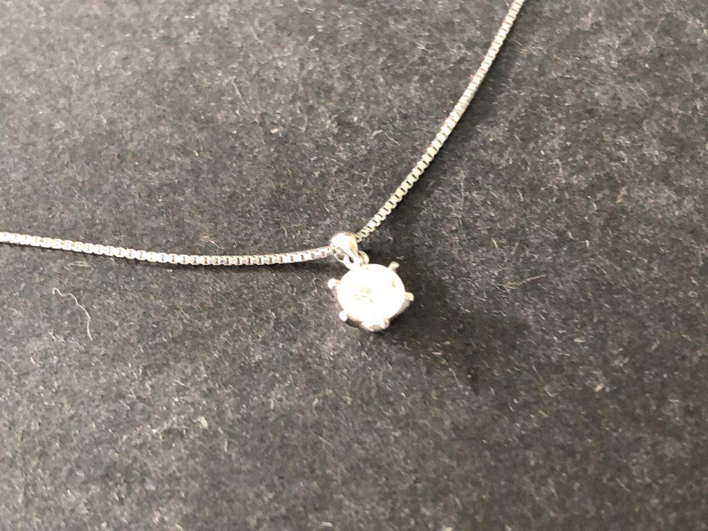 鹿児島市:ダイヤ付きネックレスをお買取りさせて頂きました
