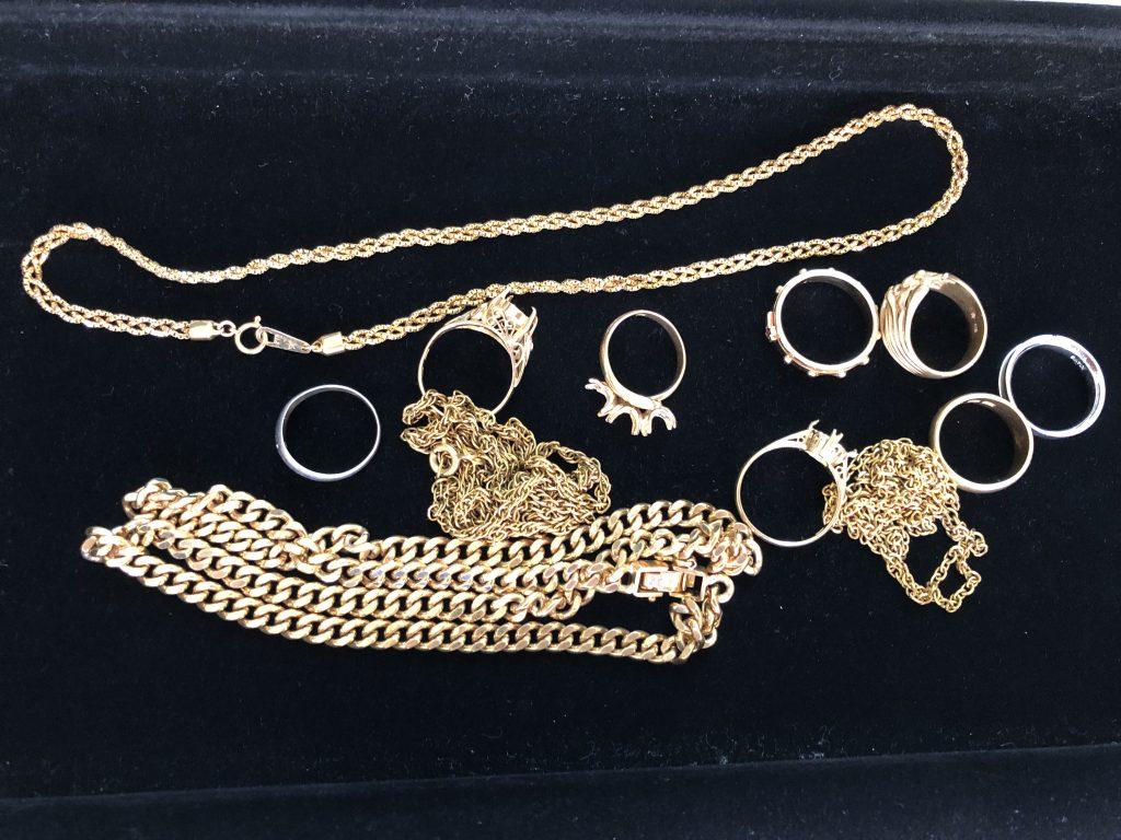 南さつま市:金・貴金属の指輪、ネックレスをお買取りさせて頂きました