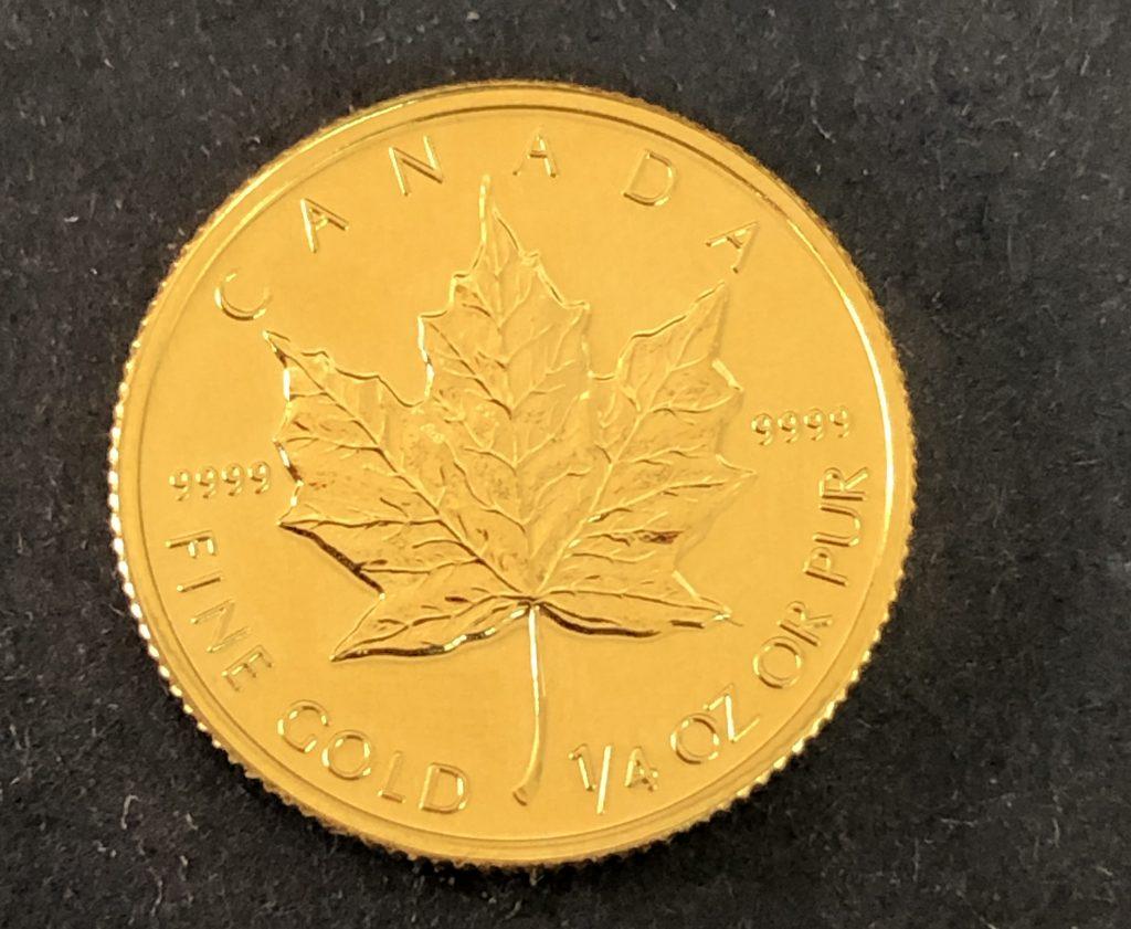 鹿児島市:カナダ メープル金貨をお買取りさせて頂きました