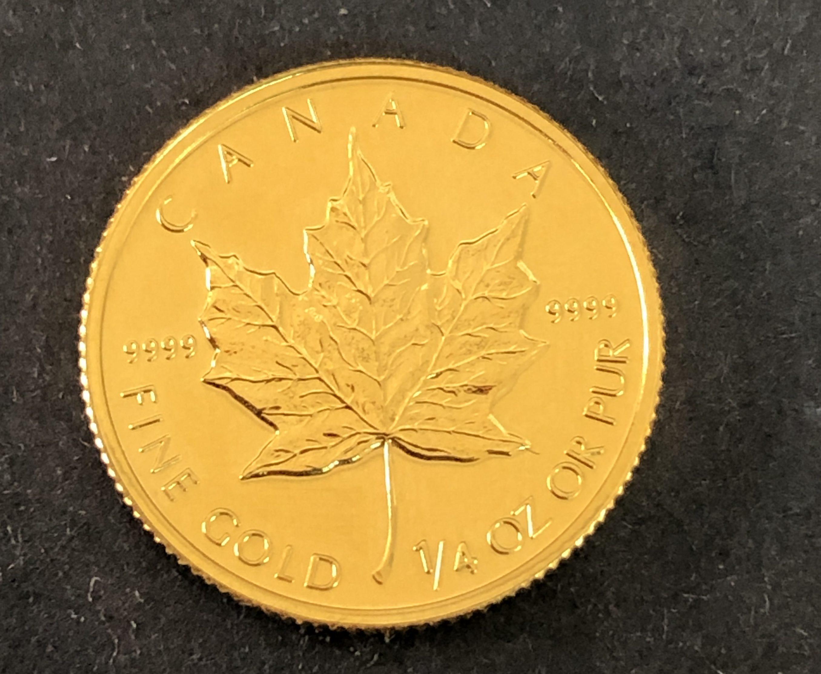金貨 カナダメープル金貨 貴金属 買取